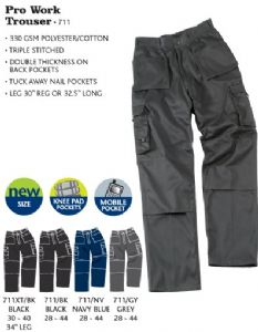Tuffstuff Pro Work Trouser (Waist 30 - 44, Leg 30 or 32.5)